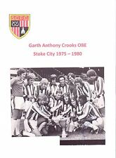 GARTH CROOKS STOKE CITY 1975 - 1980 ORIGINAL HAND SIGNED PICTURE CUTTING
