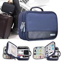 Electronic Accessories Cable USB Organizer Bag Case Drive Travel Insert Blue KJ