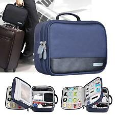 Electronic Accessories Cable USB Organizer Bag Case Drive Travel Insert Blue GA