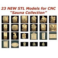 23 NEW Sauna 3d STL Models for CNC Router 3d-Printer Artcam Aspire Cut3d