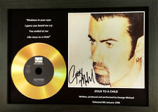 GEORGE MICHAEL-'JESUS TO A CHILD'- SIGNED GOLD PRESENTATION DISC