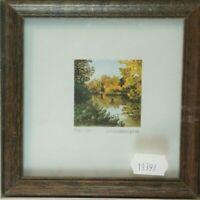 Unbekannter Künstler datiert numeriert signiert Holzrahmen 11,5x11,5cm K-1219