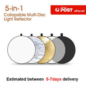 """AU 43"""" 5in1 Photography Reflector Collapsible Portable Light Diffuser 110CM"""