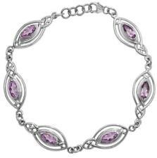 Unbranded Sterling Silver Amethyst Fine Bracelets