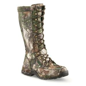 New Guide Gear 17 Men's All-Camo Nylon Waterproof Side-zip Snake Boots