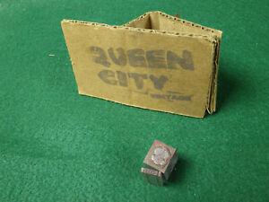 Vintage lead letterpress/letter press/linotype/type blocks Buick crest 1940s 50s