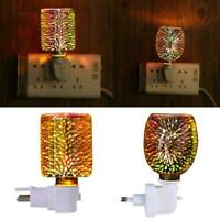 3D Plug-In LED Aroma Diffuser Lamp Wax Melt Oil Burners Home New Warmer N6M7