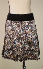 POLECI Printed Silk Skirt Multi Color Size: Small NWOT (Pre-production/sample)