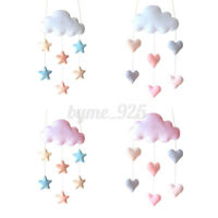 Cloud Love Heart Baby Nursery Mobile Wall Hanging Decor Shower Gift White Pink !