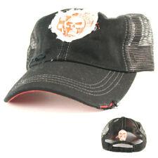 Skull Patch Mesh Baseball Cap, EZ Riderz Distressed Style, Adult, Unisex