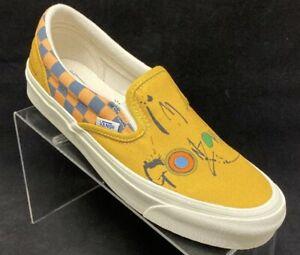 Vans X Ralph Steadman Gonzovationist Slip on Classic Vault Yellow Men Size 9