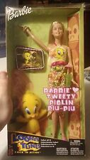 Mattel 2003 Barbie-Looney Tunes - Barbie loves Tweety Piolin Piu-Piu #B7038 NRFB