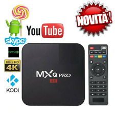 TV BOX ANDROID IPTV 4K FULL HD 1080P 4GB 32GB RAM SMART DECODER WIFI MXQ PRO