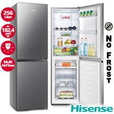 Kühl Gefrierkombination Kühlschrank NoFrost Edelstahl Kombi 256 Liter Hisense