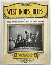 1923 BLACK SONGWRITERS sheet music WEST INDIES BLUES photo PIRON'S NEW ORLEANS O
