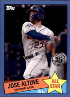 2020 Topps Series 2 JOSE ALTUVE 1985 Topps All-Star BLUE Parallel Astros 85AS-25