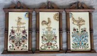(3) Turner Wall Accessory Vintage Picture Frames 3D Raised MCM Eclectic Floral