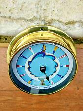 Horloge des marées en laiton cadran couleur en Français diametre 11,5cm, neuve