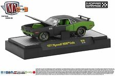 1:64 M2 Machines *MOPAR GARAGE R36* Black 1971 Plymout HEMI CUDA *NIB*