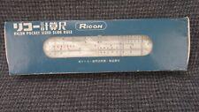 "Ricoh No. 505 Plastic Slide Rule w/ Leather Sleeve Box Manual Instructions 6"""