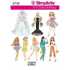 Simplicity Sewing Pattern 4719 Doll's Clothes Dresses & Outfits