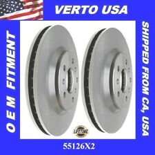 2 Front Brake Rotors For Chevrolet Monte Carlo 2006-2007