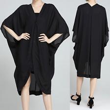 Women's Casual Chiffon Tunic Dress Batwing Sleeve Cardigan Blouse Loose Tops