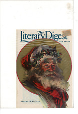 DEC 1935 THE LITERARY DIGEST SANTA MISTLETOE  AD PRINT D457