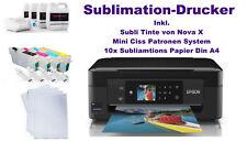 T-shirt Imprimante Sublimation Imprimante tasses pression Sublimation Pression Mini CISS