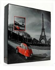 "Slip In Photo Album In Box Holds 500 6"" x 4"" Photos Great Gift Red Paris France"
