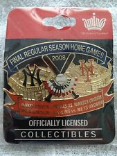 Rare Yankee Stadium & Shea Stadium Final Regular Season Home Games 2008 Pin