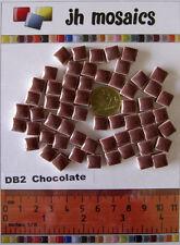 100pcs - 110grams Micro Ceramic Mosaic Tiles Dark Brown DB2