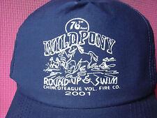 Chincoteage Wild Pony Round-up & Swim Hat 2001 Island Horses Navy Baseball Cap