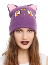 Sailor Moon Luna Character Watchman Beanie Knit Hat Gift Rare New With Tags!