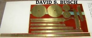 O Scale On3 On30 ETCHED BRASS SAW BLADES for your Logging Camp David S. Busch