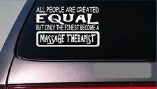 "Massage Therapist equal Sticker *G684* 8"" vinyl table deep tissue towels heat"