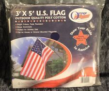 Olympus 3' X 5' U.S. Flag Outdoor Quality Poly Cotton, Bright Colors