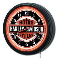 Harley-Davidson  - Nostalgic Trademark B&S Neon Clock HDL-16625 - SHIPS FAST