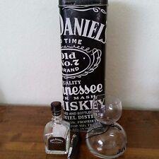Jack Daniels Set - Collectible Tin, Chaser Jigger, and Mini SIngle Barrel Bottle