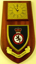 ARMY CADET FORCE CLASSIC HAND MADE TO ORDER  WALL CLOCK