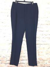 NWT Adolfo Dominguez Navy Blue Dress Pants Career Skinny Leg US 8 EUR 42 MEX 9