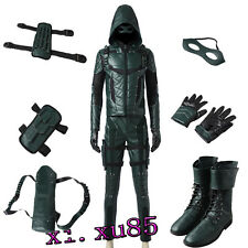 Original Green Arrow Season 5 Oliver Queen Cosplay Costume Customize Full Suit