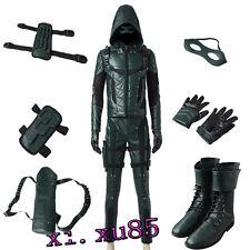 Original Green Arrow Season 5 Oliver Queen Cosplay Costume Customize Full Suit