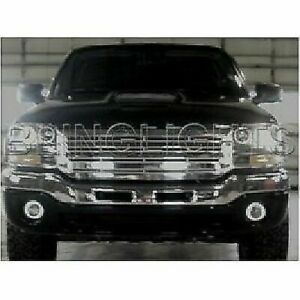 White LED Halo Fog Lamps Driving Light Kit for 2003-2007 GMC Sierra GMT800