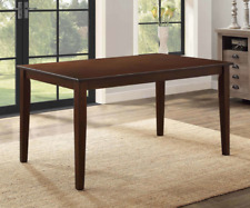 Brown Wood Dining Room Table Solid Wooden Rectangular Contemporary Rustic Seat 6