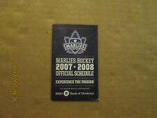 AHL NHL Toronto Marlies & Maple Leafs Circa 2007-2008 Hockey Pocket Schedule