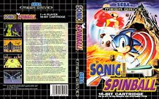 Sonic the Hedgehog Spinball Sega Mega Drive recambio caja Art funda