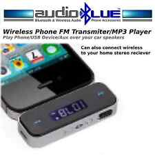 Wireless Fm Transmitter Mp3 Player Aux in Listen to Phone on Car Home Speakers