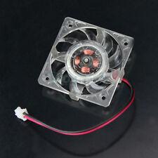 2 Pin 40x40x10mm 40mm 4cm Square VGA Video Graphics Card Clear Box Cooling Fan