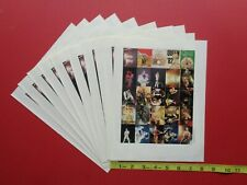 QUEEN,commemorative color, Rock and Roll STAMPS (10 sheets)